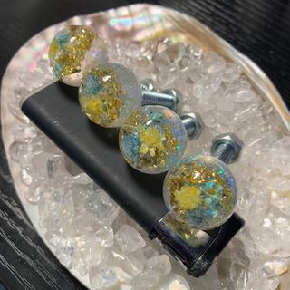 【水中花】ナンバーボルト 4本セット白