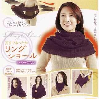 【新品】日本製 ・肩まであったかリングショール