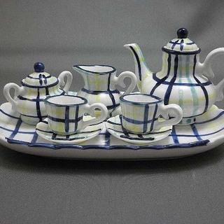 ■ミニチュア陶器 ティーセット■《新品》