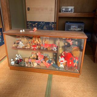 レトロ人形、棚セット