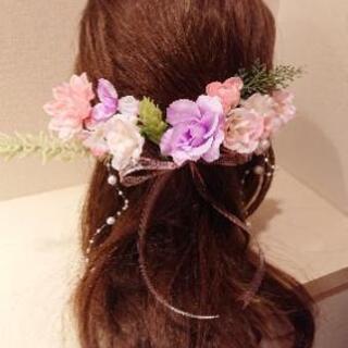 ウエディング・花冠風ヘア飾り