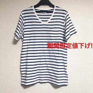 《期間限定値下げ》SHIPSボーダーVネックTシャツ メンズ