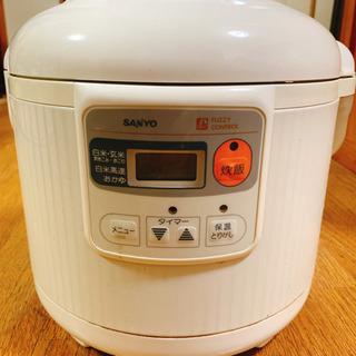★決まりました★【ワンコイン】SANYO マイコンジャー炊飯器5...