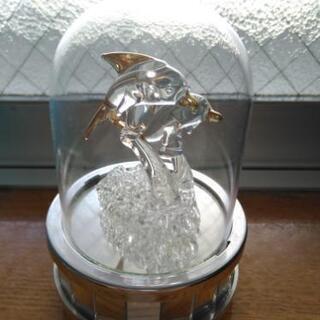 イルカのガラス細工  オルゴール