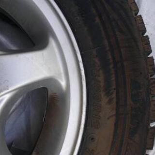 スタッドレスタイヤ4本、古い軽四用、ホイル付き - 山口市