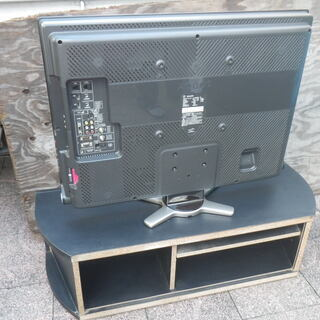 ■配達可■シャープ アクオス 地デジ ハイビジョン 液晶 テレビ 32型  LC-32DE5 2010年製 テレビ台付 - 家電