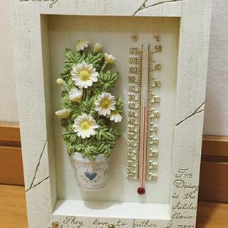 ナチュラル雑貨 新品 可愛い陶器の温度計