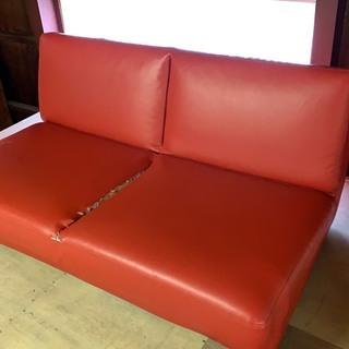 訳アリ特価! 赤ソファーベッド ダブルサイズ
