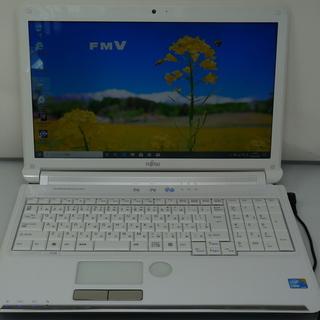 ノートパソコン Fujitsu AH5505BB 新品SSD W...