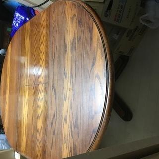 アンティーク 丸テーブル(可変式)