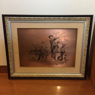 大きな銅板の絵です、重厚感あります。
