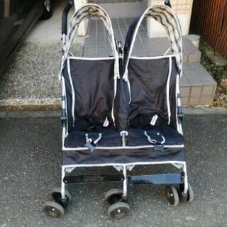 2人乗りベビーカー横型(引き取り限定)