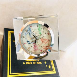 ディズニー ガラス製 置き時計