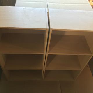 木目調カラーボックス 2個セット