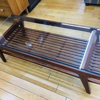 【トレファク鶴ヶ島店】ガラス天板 ローテーブル