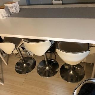 大理石✰カウンター兼ダイニングテーブルチェアセット