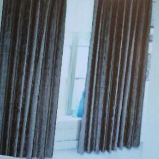 遮光カーテン一級 裏地つき 外から見えないレースカーテン付き