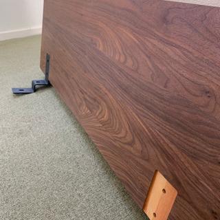 取り引き中☆無印良品のソファベッドになる背板-ウォルナット-