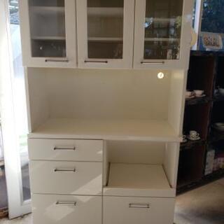 レンジ・炊飯器台付き食器棚