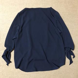 【値下げ 新品未使用】ブラウス トップス ネイビー Mサイズ - 服/ファッション