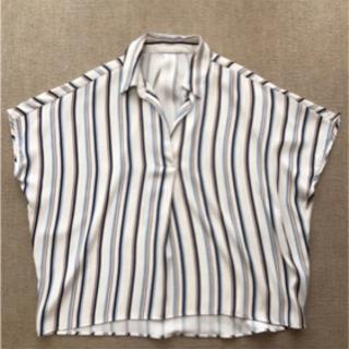 【値下げ】INGNI 半袖マルチストライプスキッパーシャツ