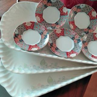 【プレートセット】花柄小皿&プレート
