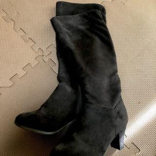 黒のロングブーツ Mサイズ 試着可