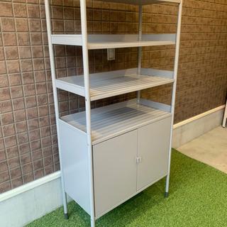 IKEA シェルフ ユニット キャビネット グレー
