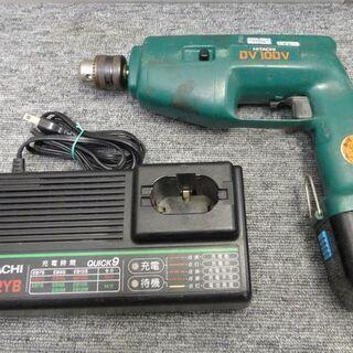 HITACHI 日立工機 コードレス振動ドリル 10mm DV 10DV 1500rpm 無段階変速 バッテリー式 ケース 充電器 バッテリー付き - 札幌市