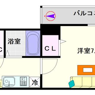 【ドミール桜川Ⅱ】11号タイプ!1Kタイプ!一人暮らしに使いやす...