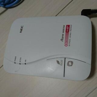「お話し中」NEC 無線LANルーター