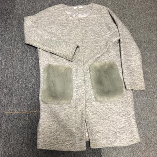 GRLファーポケット付きコート