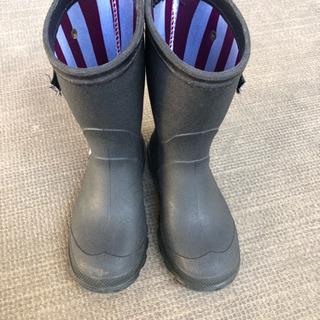 キッズ長靴 レインブー17.0 黒 ベルト付き