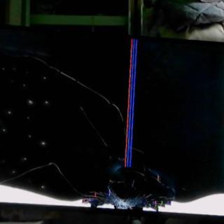 画面割れ 液晶テレビ アイリスオーヤマ 55ub10p