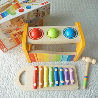 【美品】Hape 知育玩具 Pound and Tap Bench