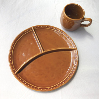 country  one plate & cup  (camel)