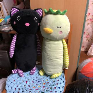 カッパと黒猫のぬいぐるみ