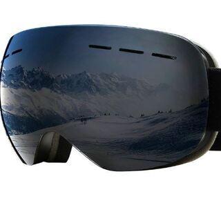 スキーゴーグル UVカット スノーゴーグル 球面レンズ 防風 防...