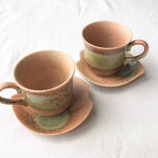 未使用品◎  葉模様  teacup  2個
