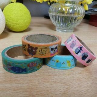 動物柄マスキングテープ4種【郵送可能】