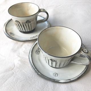 未使用品◎  陶器  teacup  2個
