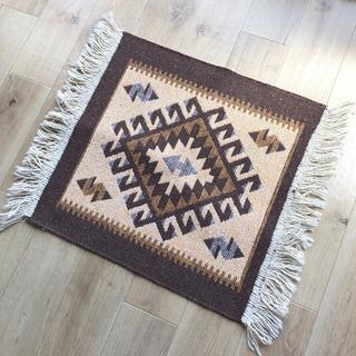 未使用品◎  トルコ製  kilim  rug mat (brown)