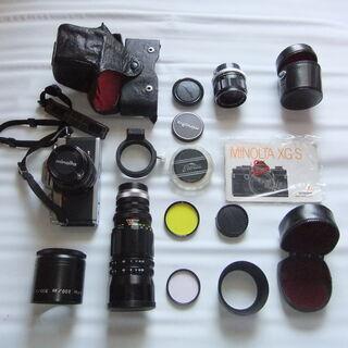 ミノルタフイルム式一眼レフカメラXG-Sと交換レンズセット