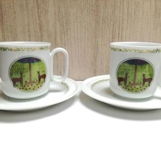 Mikimotoコーヒーカップ&ソーサー2客セット<未使用>