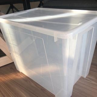 ④IKEA プラスチック収納ケースの画像