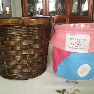 植木鉢カバー・水受け・紙袋と籐かご
