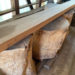 うす 木材  三本