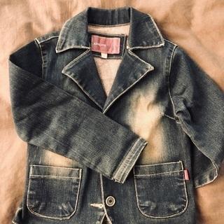 長袖ジャケット デニムアウター サイズ110 子供服