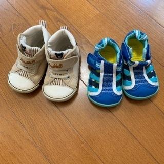 ダブルB 靴13.0cm  IFMIサンダル 12.5cm 2足セット