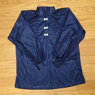 CA341 太極拳 津留美 シャツ&パンツ ネイビー Mサイズ